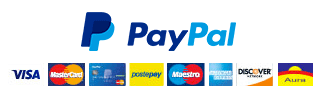 PayPal logo and accepted credit cards
